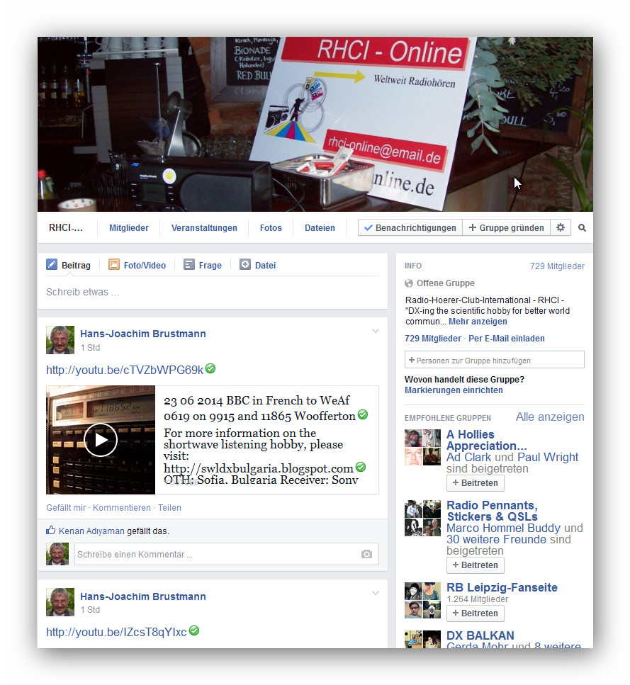 RHCI-Online in Facebook